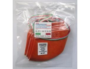 Mascherina protettiva Set 5 pz in Cotone (NO DPI) Arancione Riutilizzabile