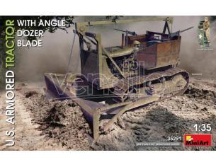 Miniart Min35291 U.s.armored Tractor Con Angle Dozer Blade Kit 1:35 Modellino