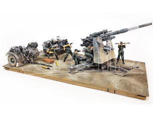 FORCES OF VALOR FOR801008A DIV.SET GERMAN 8.8 cm FLUGABWEHRKANONE 36/37 GUN 1:32 Modellino