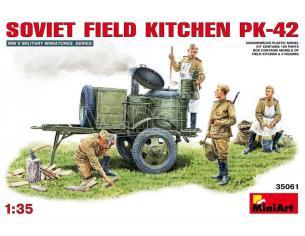 MINIART MIN35061 SOVIET FIELD KITCHEN KP-42 KIT 1:35 Modellino