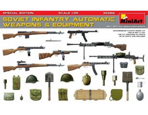 MINIART MIN35268 SOVIET INFANTRY AUTOMATIC WEAPONS & EQUIPMENT KIT 1:35 Modellino