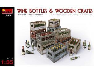 Miniart Min35571 Wine Bottiglia & In Legno Crates Kit 1:35 Modellino