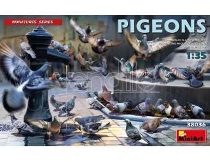 MINIART MIN38036 PICCIONI PIGEONS KIT 1:35 Modellino