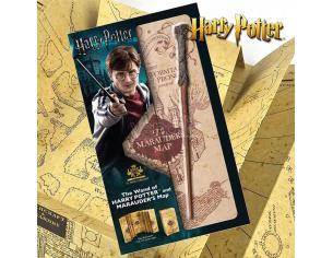 Harry Potter Set Regalo Bacchetta E Mappa Malandrino Originale Noble Collection