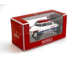 NOREV NV310603 CITROEN DS 19 1958 CYCLISTE - BLUE WHITE RED 1:64 Modellino