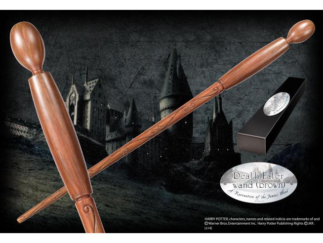 Harry Potter Bacchetta Magica Mangiamorte Brown Character Noble Collection