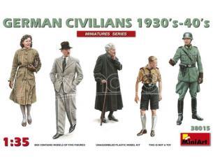 MINIART MIN38015 GERMAN CIVILIANS 1930 s-1940 s KIT 1:35 Modellino