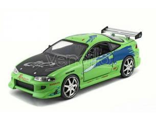 Fast & Furious Modellino Mitsubishi Eclipse Brian Die Cast Scala 1:32 Jada Toys