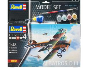 REVELL RV64973 ALBATROSS DIII MODEL SET KIT 1:48 Modellino