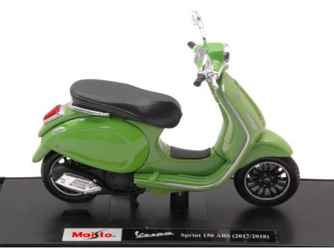 MAISTO MI16888G VESPA SPRINT 150 ABS 2018 OLIVE GREEN 1:18 Modellino