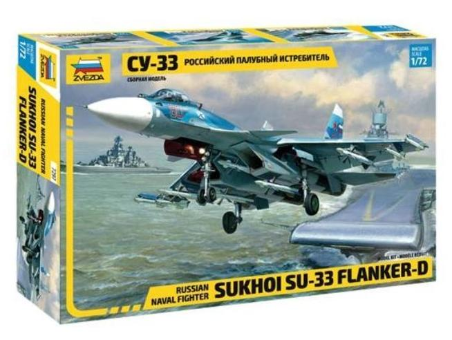Zvezda Z7297 SUKHOI SU-33 FLANKER-D RUSSIAN NAVY FIGHTER KIT 1:72 Modellino