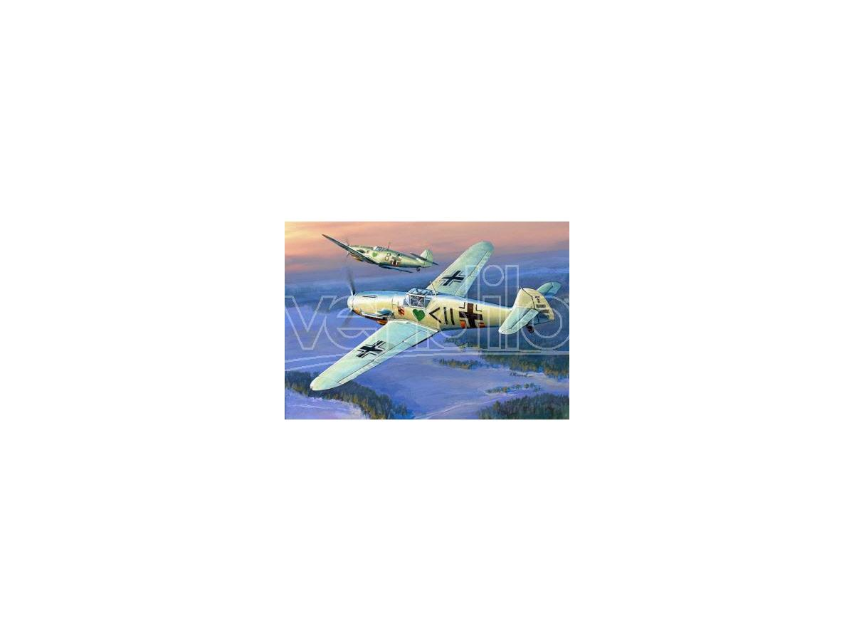 ZVEZDA Z7302 MESSERSCHMITT BF 109 F-2 KIT 1:72 Modellino