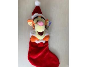 CALZA BEFANA CON PELUCHE WINNIE THE POOH TIGRO ADDOBBI DECORAZIONI NATALE Natale