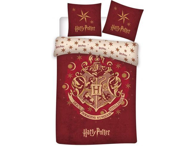 Harry Potter Copripiumino Rosso con Stemma Hogwarts 140 x 200 cm