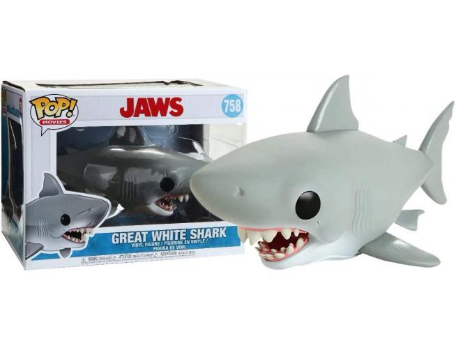 Jaws Funko POP Movies Vinile Figura Grande Squalo Bianco 15 cm