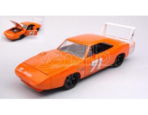 Jada Toys Jada31453 Dodge Charger Daytona 1969 N.71 Arancione/white 1:24 Modellino