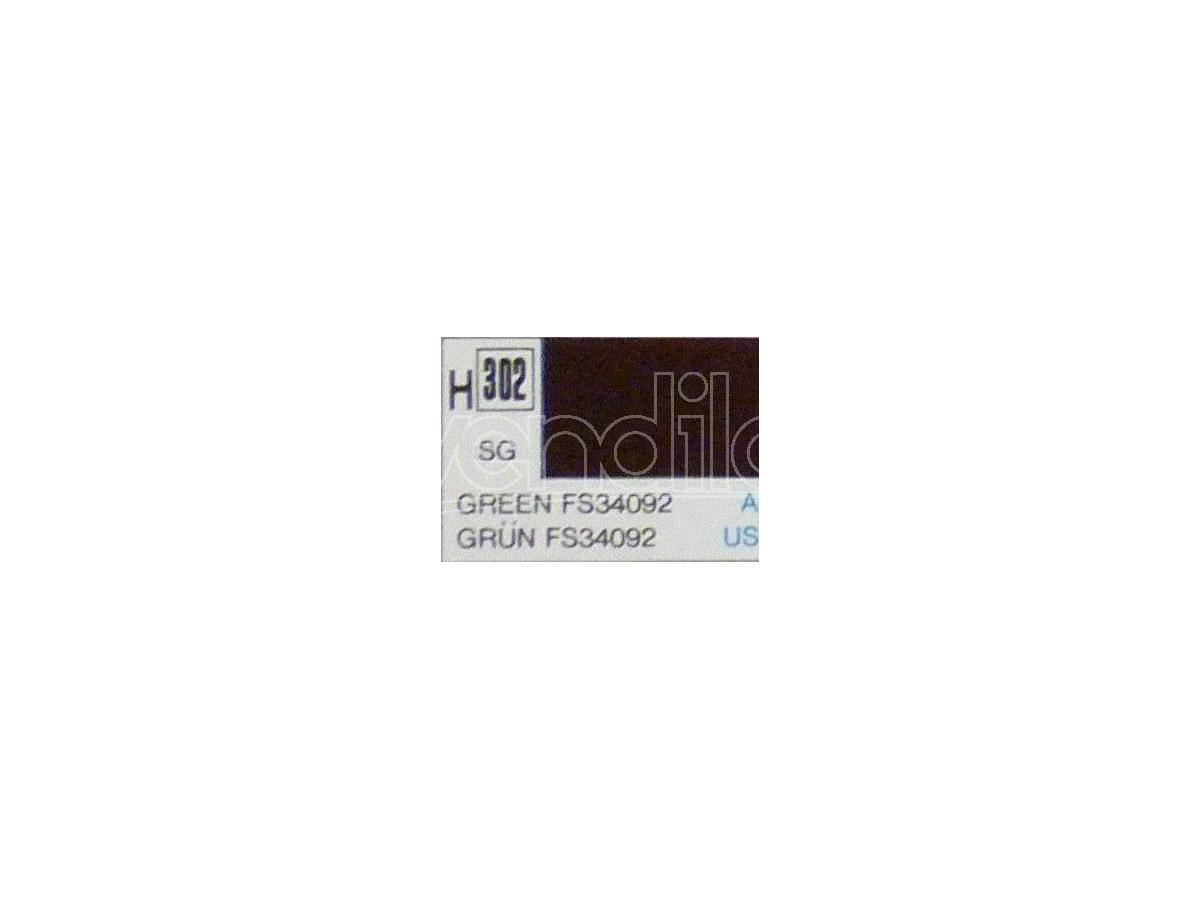 Gunze GU0302 GREEN SEMI-GLOSS ml 10 Pz.6 Modellino