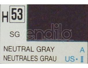Gunze GU0053 NEUTRAL GREY SEMI-GLOSS ml 10 Pz.6 Modellino