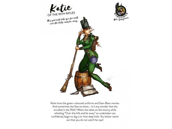 28 Mm Katie From The 95th Riffle Miniature E Modellismo Hot E Dagerous