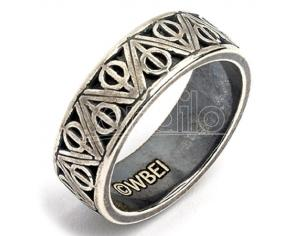 Harry Potter Doni della Morte silver ring The Carat Shop