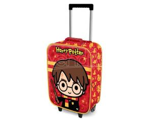 Harry Potter Trolley Valigia Harry con Bacchetta 3D 52cm Karactermania
