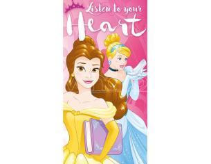 Disney Princess Listen To Your Heart Cotone Telo Mare Asciugamano Bambino Licensing