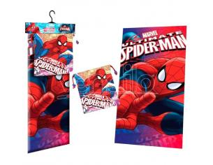 Marvel Spiderman Face Polyester Telo Mare Asciugamano + Borsa Per Il Pranzo Bambino Licensing