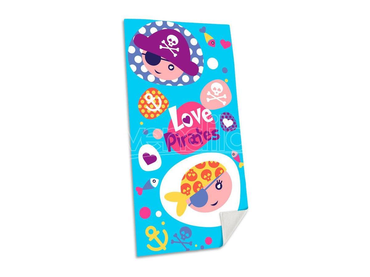 Love Pirates Cotone Telo Mare Asciugamano  Bambino Licensing