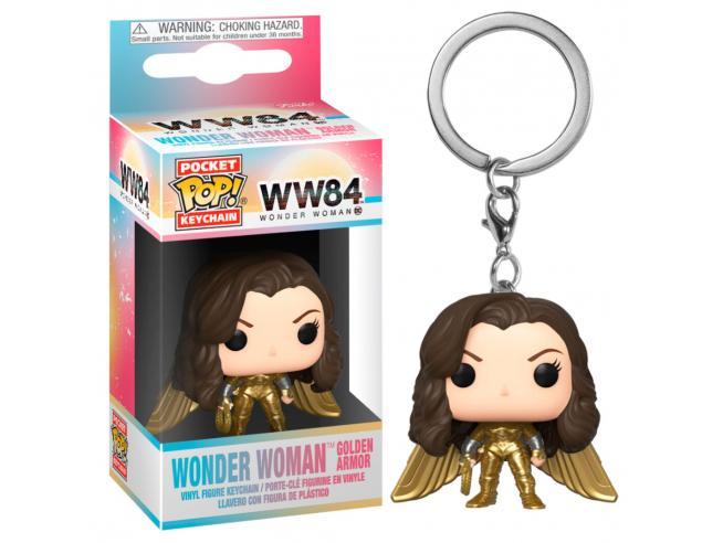 Pocket Pop Portachiavi Dc Wonder Woman 1984 Wonder Woman No Casco Gold Wing Funko