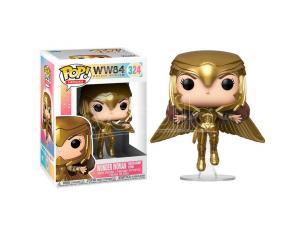 Dc Wonder Woman 1984 Funko Pop Heroes Vinile Figura Wonder Woman in Volo con Armatura Oro 9 cm