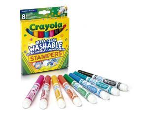 Crayola Set 8 Ultra-Washable Stamper Markers Crayola