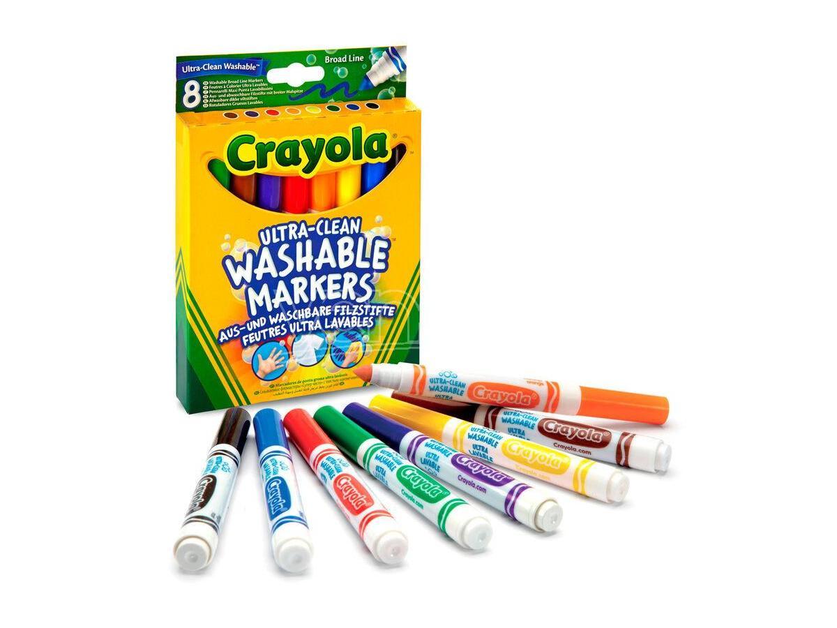Crayola Set 8 Washable Broad Line Markers Crayola