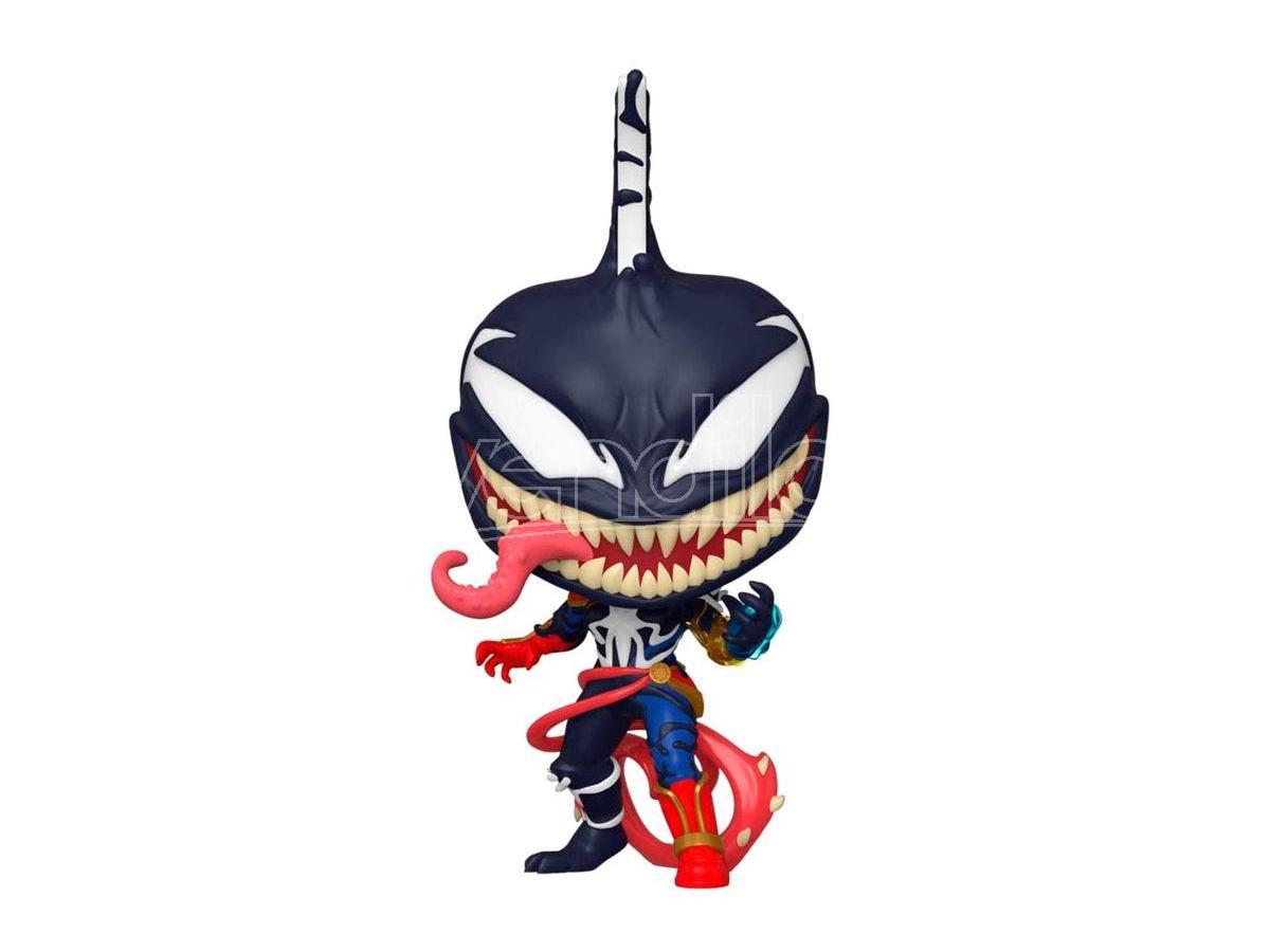Marvel Spider Man Maximum Venom Funko Pop Vinile Figura Captain Marvel 9 cm