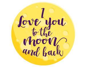 I Love You To The Moon E Back Microfibra Round Telo Mare Asciugamano
