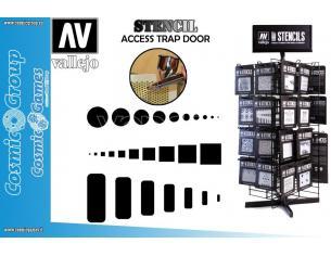 STENCIL STAIR003 ACCESS TRAP DOOR ACCESSORI PER MODELLISMO VALLEJO VALLEJO