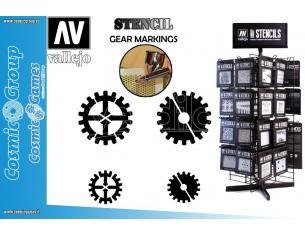 STENCIL STSF001 GEAR MARKINGS 125 ACCESSORI PER MODELLISMO VALLEJO VALLEJO