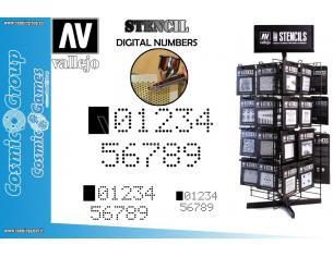 STENCIL STSF004 DIGITAL NUMBERS ACCESSORI PER MODELLISMO VALLEJO VALLEJO