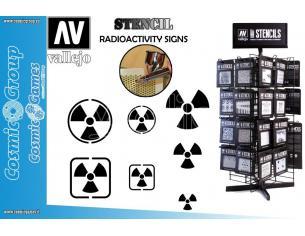 STENCIL STSF005 RADIOACTIVITY SIGNS ACCESSORI PER MODELLISMO VALLEJO VALLEJO