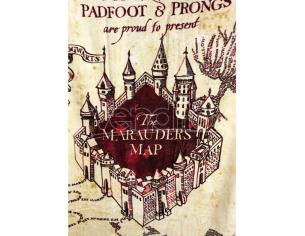 Harry Potter Asciugamano Telo Mare Mappa Del Malandrino Cotone Groovy