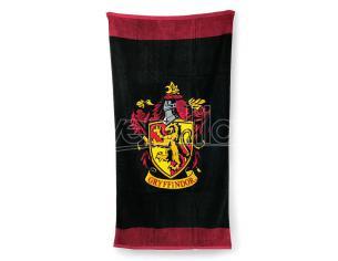 Harry Potter Telo Mare Asciugamano Nero Stemma Grifondoro Cotone 75x150 cm Groovy