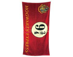 Harry Potter Telo Mare Asciugamano Espresso Per Hogwarts Binario 9 3/4 Cotone Groovy
