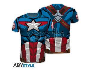 """Marvel - Replica T-shirt """"captain America"""" Uomo Medium"""