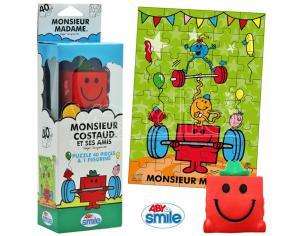 Monsieur Madame - Puzzle + Figurine - M. Costaud