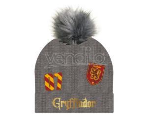 Harry Potter Berretta Grigia Grifondoro Con Pompon Cerdà