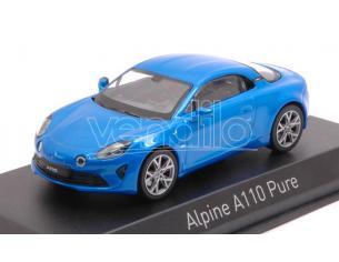 Norev NV517866 ALPINE A110 PURE 2018 ALPINE BLUE 1:43 Modellino