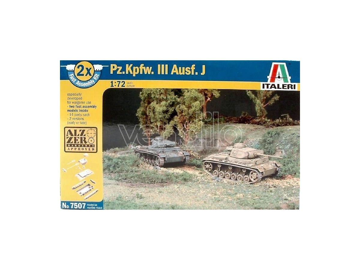 Italeri IT7507 CARRO ARMATO PZ KPFW AUSF J KIT 1:72 Modellino