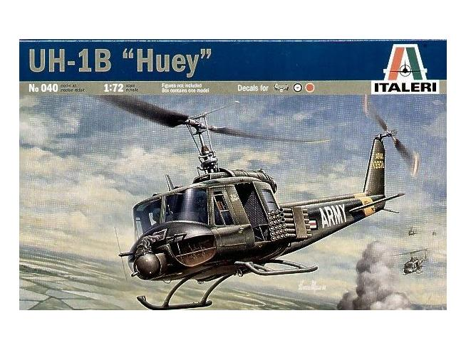 Italeri IT0040 ELICOTTERO BELL UH-1B HUEY KIT 1:72 Modellino
