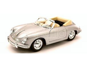 Welly WE1316S PORSCHE 356 B CABRIO 1960 SILVER 1:24 Modellino