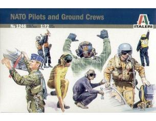 Italeri It1246 Nato Pilots E Ground Crew Kit 1:72 Modellino