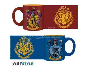 Harry Potter Set 2 Mini Tazze Caffè Espresso 110 ml Grifondoro e Corvonero